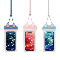 스마트폰 방수팩 블루 핑크 USAMS