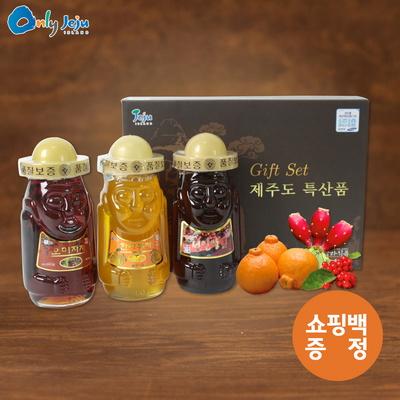 탐라 하르방 3종세트 ( 오미자차+한라봉차+선인장차)