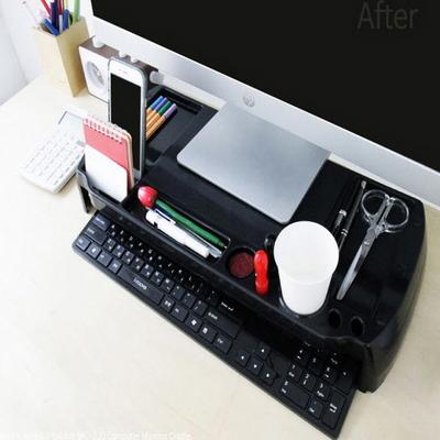 아이브릿지 MC-220 모니터 받침대-블랙
