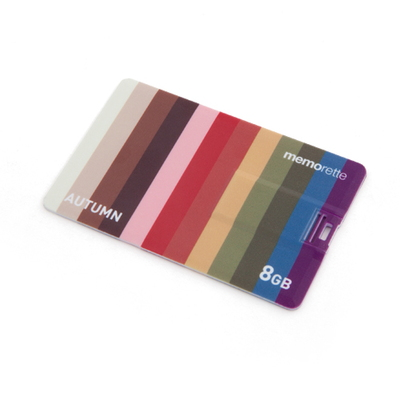 퍼스널컬러 8G 카드형 USB메모리 -지갑에 쏙 유닉한 4계절 컬러-