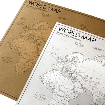 WORLD MAP 2장 세트- 모던한 세계지도