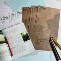 KOREA MAP Sketch-미니 한국지도 10장