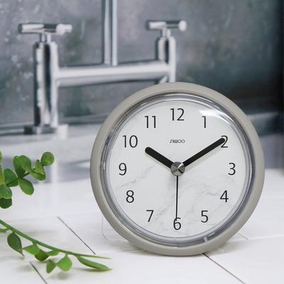 마블패턴욕실방수 흡착시계(2COLOR)