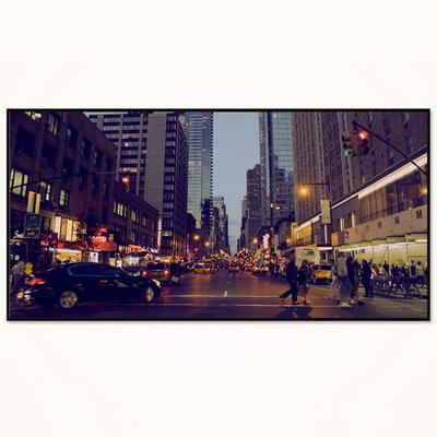 대형 거실 액자 FA352 뉴욕의 밤거리- 와이드 액자 알루미늄 슬림 모던 액자