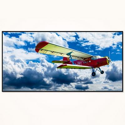 대형 거실 액자 FA353 창공의 비행기- 와이드 액자 알루미늄 슬림 모던 액자