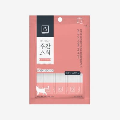 브리더랩 주간스틱 닭가슴살&연어 고양이간식 7P