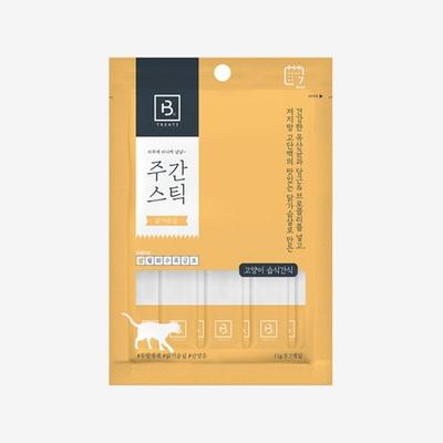 브리더랩 주간스틱 닭가슴살 고양이간식 7P