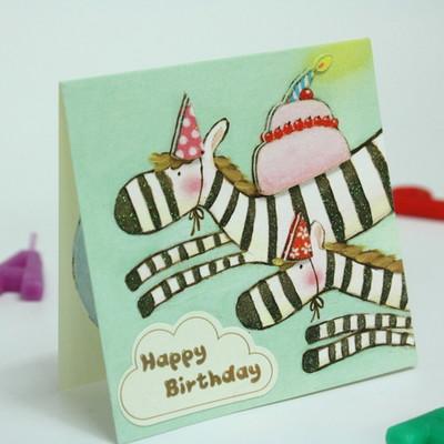 꿈나라동물친구들의 생일축하카드