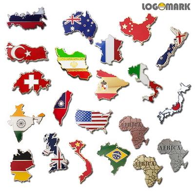 세계각국의 지도 뺏지