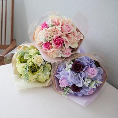 마린수국 비누장미 꽃다발