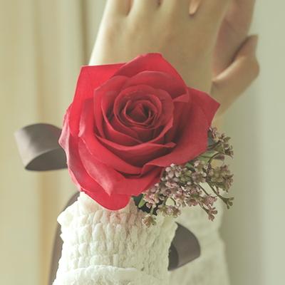 브라이덜샤워 꽃팔찌-로즈