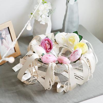 마카롱 라넌큘러스 꽃팔찌