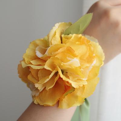 브라이덜샤워 꽃팔찌-수채화수국