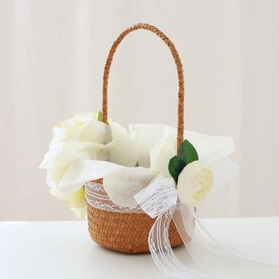 피오니 화동바구니+꽃잎 300개set
