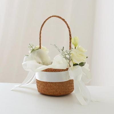 리시안셔스 화동바구니+꽃잎 300개set