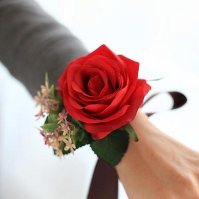 브라이덜 샤워 꽃팔찌-로즈