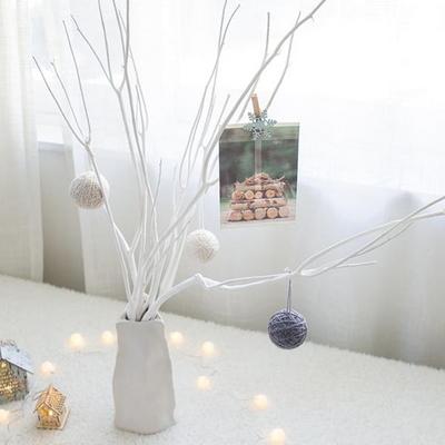 화이트 자작나무 도자기화병세트