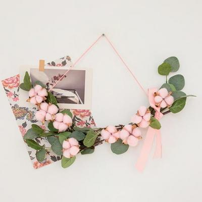 핑크목화 유칼립투스 가랜드