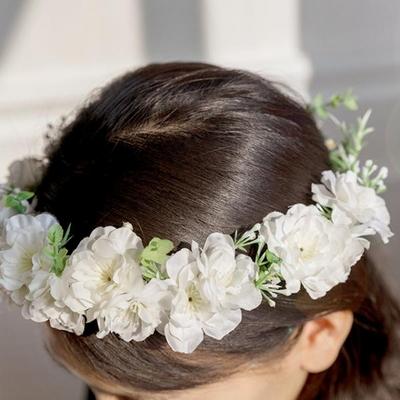 화이트블라썸 벚꽃화관
