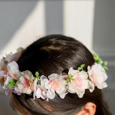 러블리블라썸 핑크벚꽃화관