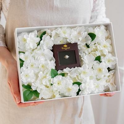 가장아름다운순간 벚꽃 프로포즈플라워박스