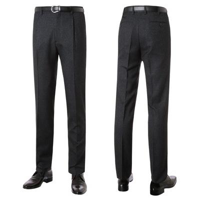남성 봄 패턴 원턱 양복 정장 바지 LO-SPA-237-차콜
