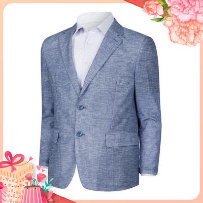 [어버이날]남성 가벼운 여름 캐주얼 정장 콤비 자켓 HM-COS-11-블루
