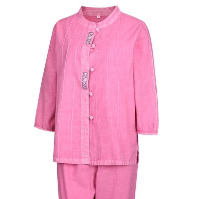 여성 여름 데일리 천연염색 생활한복 상하의 세트 SS-HBS-F1-핑크