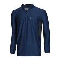 남성 반집업 스판 긴팔 등산 티셔츠 MB-MOA-Q007-블루