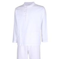남성 간절기 천연 생활한복 상하의 세트 SS-HBA-Q006-흰색