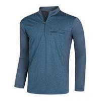 남성 봄 가을 스탠다드 데일리 반집업 등산 티셔츠 IU-MOA-229-청록