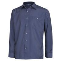 남성 봄 가을 베이직 패턴 카라넥 셔츠 YD-SHA-153-차콜