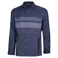 남성 봄 가을 베이직 스트라이프 카라넥 셔츠 YD-SHA-150-네이비