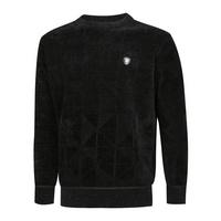 남성 패턴 기모 라운드 니트 YD-KNK-905-블랙