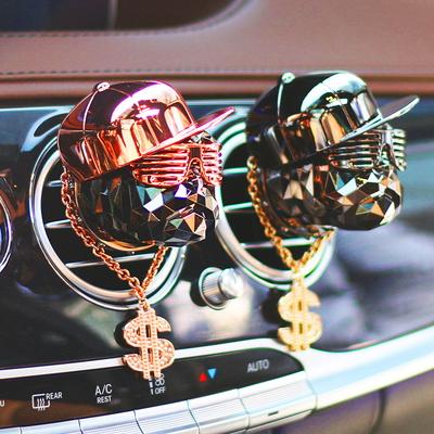 아이나비 힙합독 차량용 방향제 송풍구용+달러목걸이