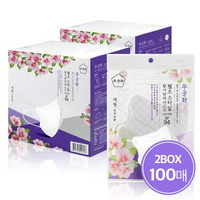 무궁화 KF94 화이트 2D 마스크 100매 새부리형 국내생산