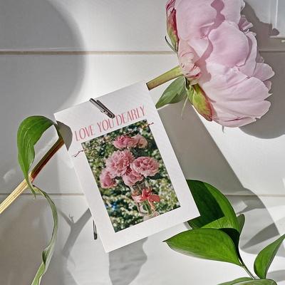 LOVE YOU DEARLY TAG CARD 사랑 미니 카드