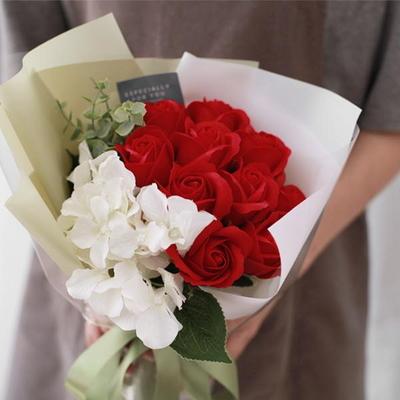 [DIY키트] 10송이 비누장미와 수국꽃다발만들기