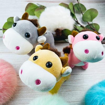 작은꼬리 송아지 휴대용 가방걸이 키링 3color
