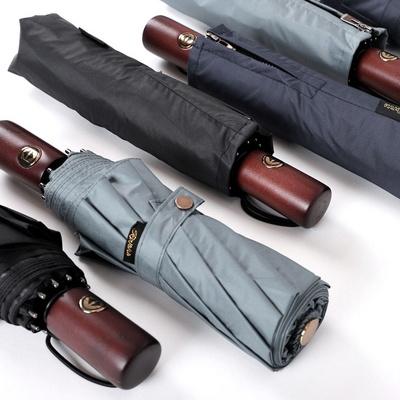로베레 프리미엄 암막 자외선차단 3단자동 우산양산겸용 우드핸들 3컬러