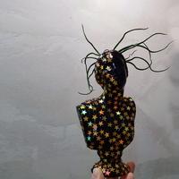 별빛 니오베 소형 미니 석고상화분 20cm내외+리본2개