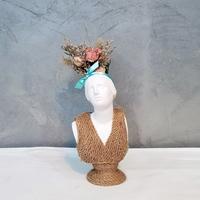 패션 반다나 니오베 소형 미니 석고상화분 20cm+리본