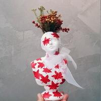 그림아트 단풍 에디션 니오베 소형 미니 석고상 화분