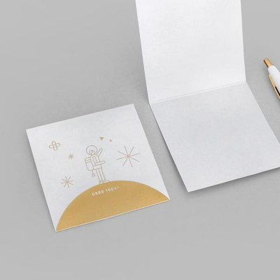MESSAGE CARD (GOLD)