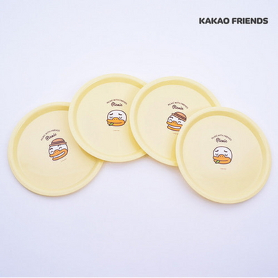 카카오프렌즈 피크닉 접시 4P세트 튜브