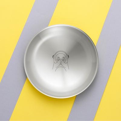 펭수 솔리드 스텐 접시 22cm 펭러뷰