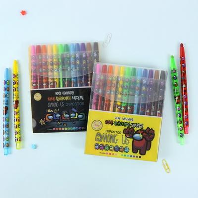 어몽어스 12색 슬라이더 색연필