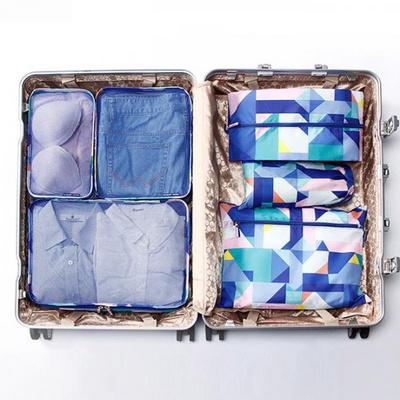 피트래블 패턴 6종 파우치 블루