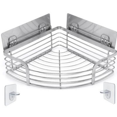 무타공 접착식 젠다이 욕실코너선반 세면대하부 만능 샴푸거치대 샤워실
