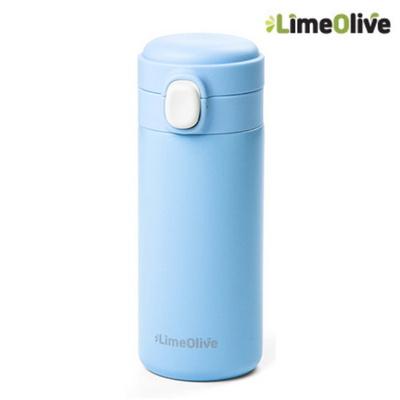 원터치 텀블러 350ml 블루 유치원물통 어린이보온병 미니 보온보냉물통